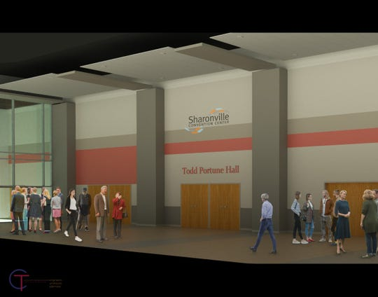 The new exhibition hall at the expanded Sharonville Convention Center is to be named for Hamilton County Commissioner Todd Portune. Here's a rendering of what it will look like.