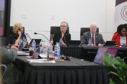 APSU President Alisa White speaks to the Board of Trustees at their winter board meeting on Nov. 22, 2019.