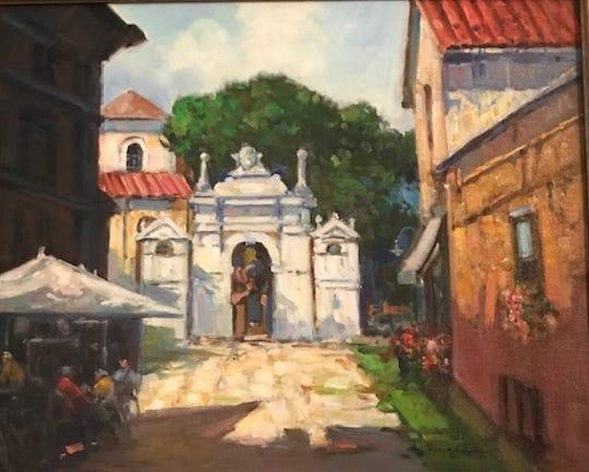 """Lunch in Verona"" by Frank E. Zuccarelli"