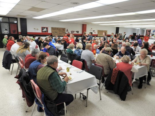 The 16th annual Community Thankgsiving Dinner was held Thursday at Coshocton High School. About 600 free meals are served annually with donations coming from the community for items and money to buy turkeys. No taxpayer dollars are involved.