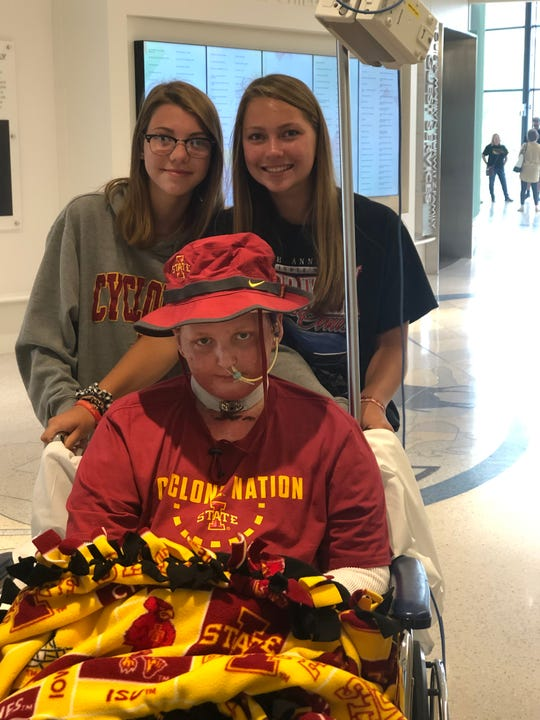 Michael McDonough's Iowa State blanket accompanied him from hospital to hospital as he was treated for Stevens-Johnson syndrome.