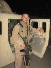 Vince Perritano on his second tour in Ramadi, Iraq as a U.S. Marine in 2007.