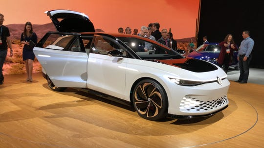 Volkswagen's I.D. Vizzion electric concept station wagon