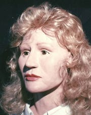 """A facial recreation of """"196 Jane,"""" later identified as Marcia Bateman of Oklahoma City ."""