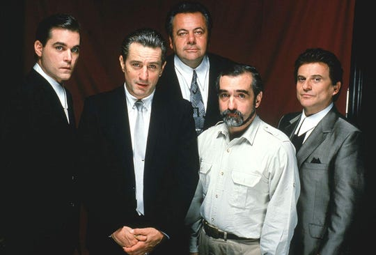 """Goodfellas"": Ray Liotta, Robert De Niro, Paul Sorvino, Martin Scorsese and Joe Pesci."
