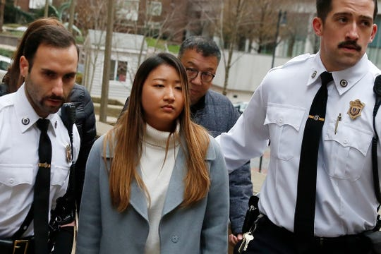 Inyoung You arrives at Suffolk Superior Court in Boston on Friday.