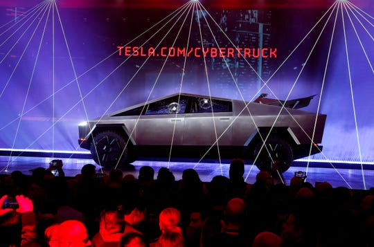 The Tesla Cybertruck that debuted in November is one of five electric pickup trucks scheduled to go on sale in the next two years.