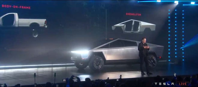 The Tesla Cybertruck's bullet-proof stainless-steel skin is made from the same stuff as Musk's Space X rockets.