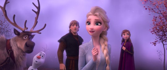 """Elsa, Anna, Kristoff, Olaf and Sven in  """"Frozen 2."""""""