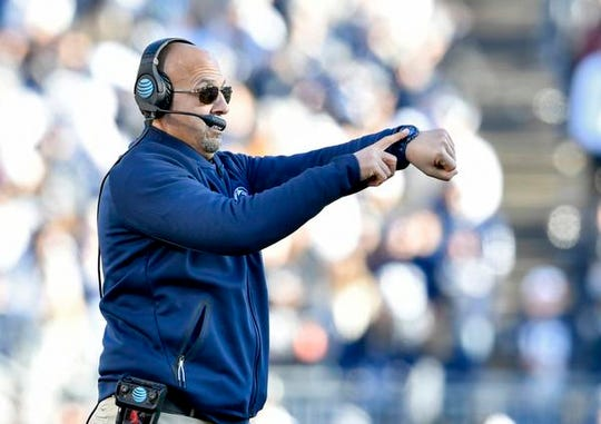 "Said Penn State coach James Franklin of playing Ohio State on Saturday: ""We're going to have to match their confidence, and we're going to have to match their playmaking."""