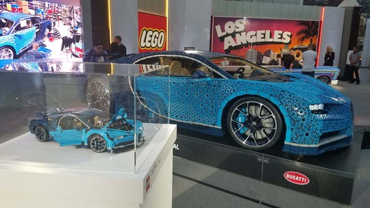 This replica of a Bugatti Chiron is made of a million LEGO pieces.