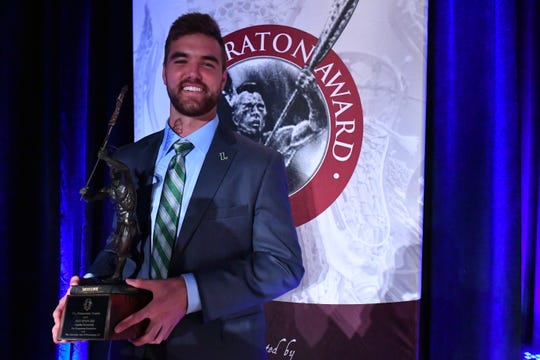 Pat Spencer received the 2019 Tewaaraton Award on Thursday, May 30, at the Smithsonian's National Museum of the American Indian in Washington, D.C.