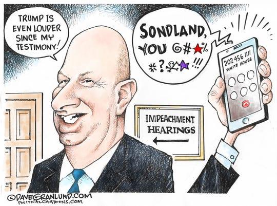 Trump even louder to Sondland.