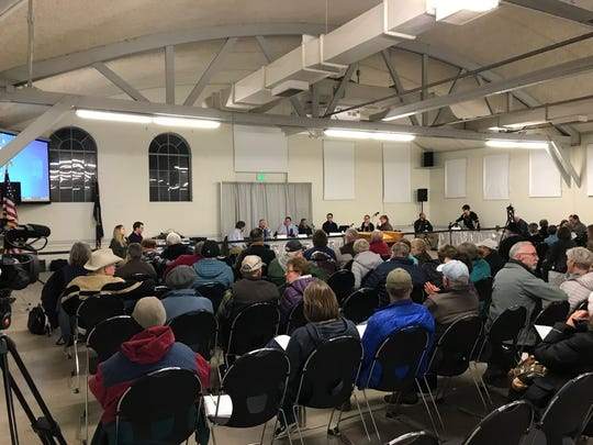 A special meeting of Cascade County commissioners Thursday evening to consider Big Sky Cheese's appeal of conditions the Zoning Board of Adjustment placed on its special use permit attracted 120 people.