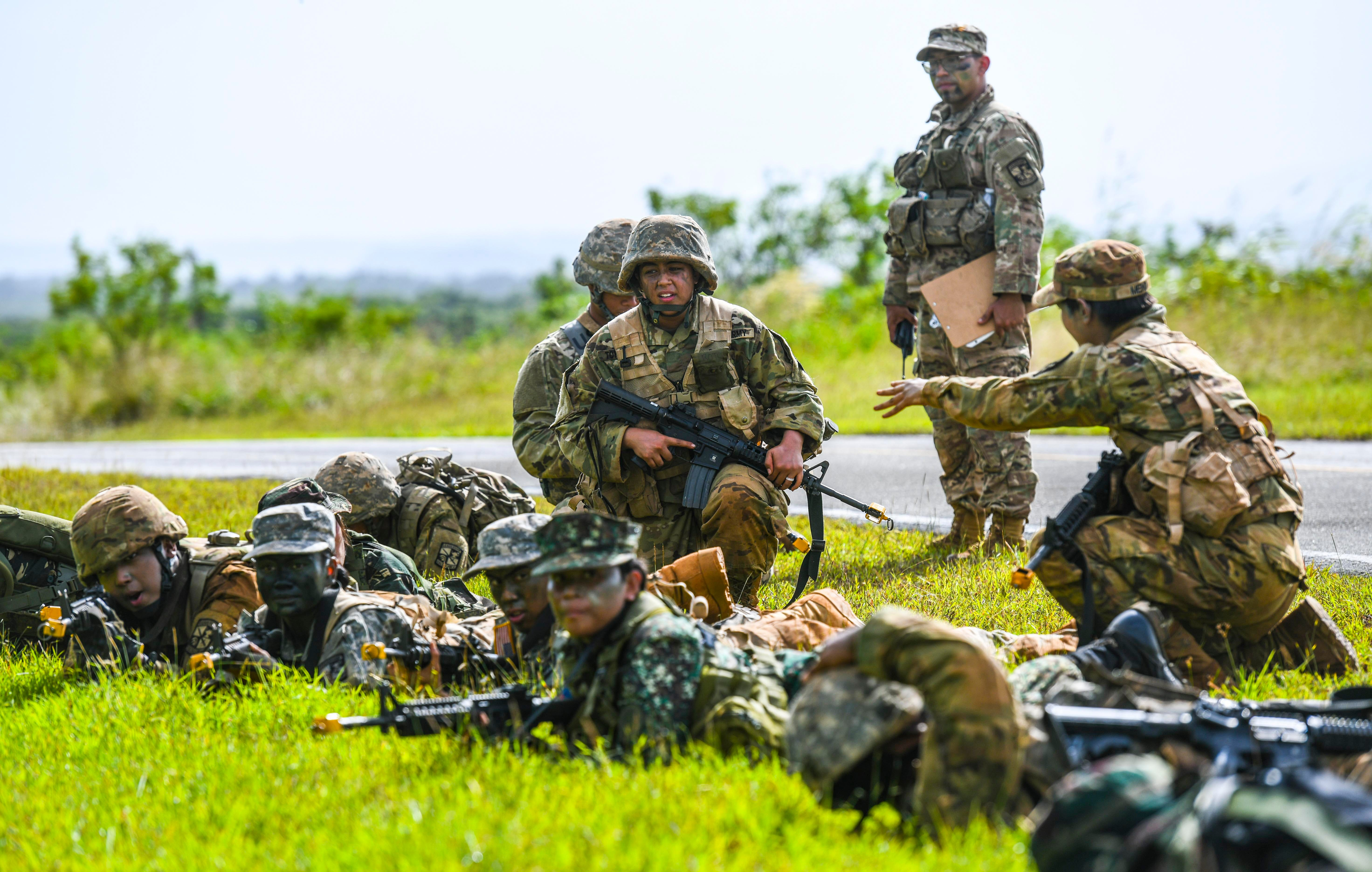 The University of Guam ROTC program trains in Radio Barrigada near the old Admiral Nimitz Golf Course in this Nov. 22, 2019, file photo. The former Admiral Nimitz Golf Course is among federal land deemed unreturnable by the Navy.