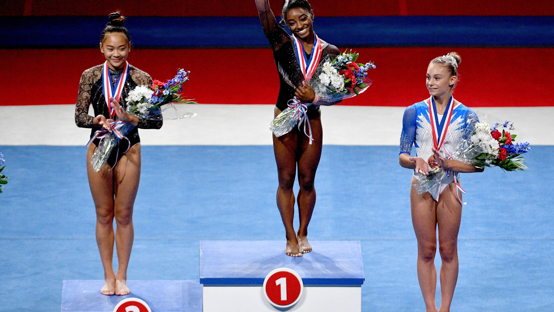 Peerless Simone Biles flies to Olympic all-around
