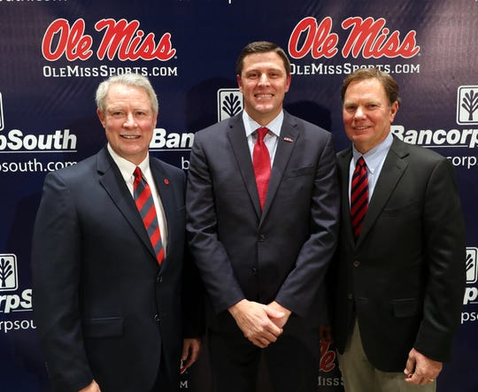 Keith Carter was introduced as the Ole Miss Athletics Director on November 22nd, 2019 in Oxford, MS.Photo by Joshua McCoy/Ole Miss Athletics Instagram and Twitter: @OleMissPixBuy Photos at RebelWallArt.com
