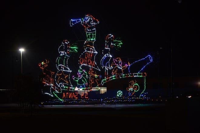 The Christmas lights at the Ballpark at Jackson on Nov. 21, 2019.