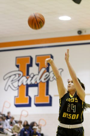 Senior Audrey Strawsma is averaging a team-best 15.4 points and 7.7 rebounds for Benton Central.