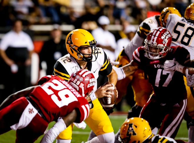 With a win over Troy on Saturday, Brenndan Johnson (29) and the Ragin' Cajuns could get another shot at Appalachian State and Mountaineers quarterback Zac Thomas.
