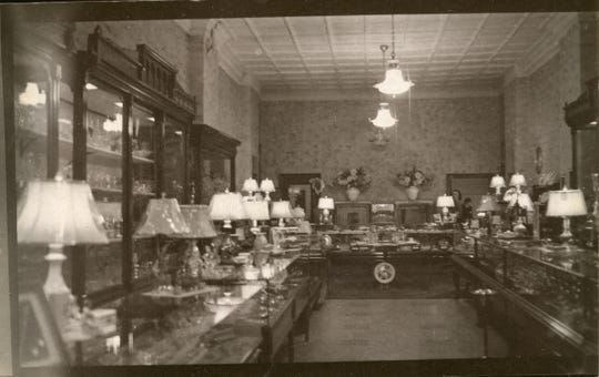 "The 1950 interior of Wendel's Jewelry Store was a ""treat to the eye."" It was located at 129 S. Broad St. when this photo appeared in the June 3, 1950 E-G."
