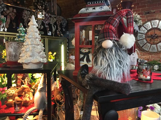 Aleta's Flowers & Gifts is one of the 19 Fowlerville businesses participating in the village's Small Business Saturday event. The florist shop, shown Thursday, Nov. 21, 2019, also sells many gift items, including Christmas decorations.