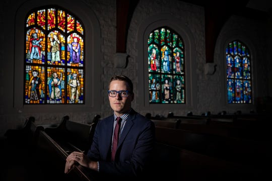 """Guthrie Graves-Fitzsimmons, a Louisville Christian writer and activist, launched The Resistance Prays, a daily devotional for progressive Christians. Graves-Fitzsimmons is listed as a faith leader to watch this year by Center for American Progress and will be releasing a book in 2020 called """"Just Faith."""" Nov. 22, 2019"""