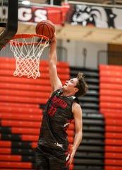 New Albany senior Trey Hourigan will be helping lead the Bulldogs in the 2019-2020 boys basketball season. Nov. 21, 2019