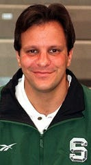 A young Tom Crean during his days as an assistant basketball coach at MSU, from 1995-99.
