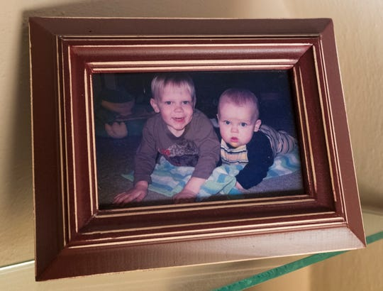 A photo of  1-year-old Jack Anderson, right, and his late brother Henry, then 3.