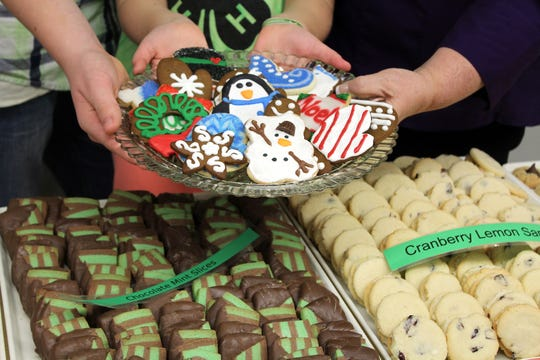 """Volunteer cookie bakers at St. Peter's Lutheran in Lebanon are called """"cookie artist"""" for their fancy decorated cookies."""