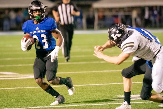 Sterlington defensive back Dorian Eddins (23) received first-team Class 3A All-State honors alongside teammates Brock Risinger on the offensive line, linebacker Cole Jones and return specialist Layton Rainbolt.