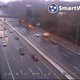 The eastbound lanes of Interstate 24 remained blocked east of Briley Parkway Friday Nov. 22, 2019 after a fatal crash.