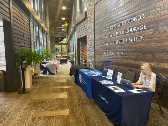 UTHSC hosted a mental health summit in the Nelson Andrews Leadership Lodge on Nov. 22, 2019 to discuss ways to improve student mental health.