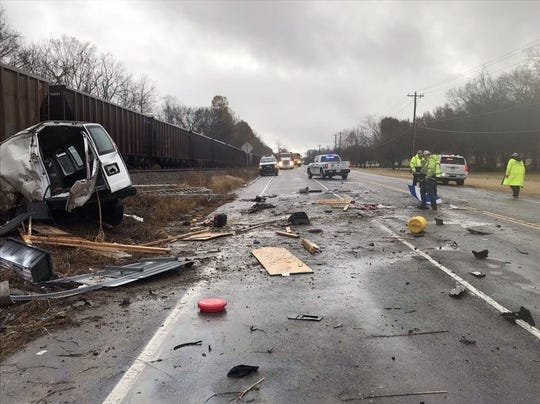 Wilson Pike at Clovercroft Road is closed after train struck a vehicle in Williamson County