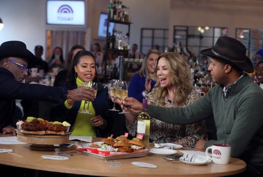 "Al Roker, Sheinelle Jones, Kathie Lee Gifford and Craig Melvin are photographed during the filming of The Today Show's special Music City edition of ""The 3rd Hour of Today"" at Pinewood Social Friday, November 22, 2019."