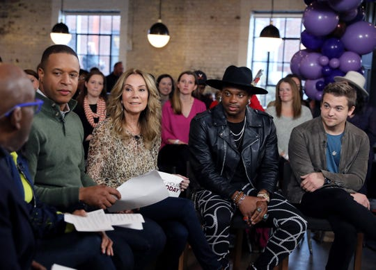 "Jimmie Allen and Hunter Hayes join the hosts during the filming of The Today Show's special Music City edition of ""The 3rd Hour of Today"" at Pinewood Social Friday, November 22, 2019."