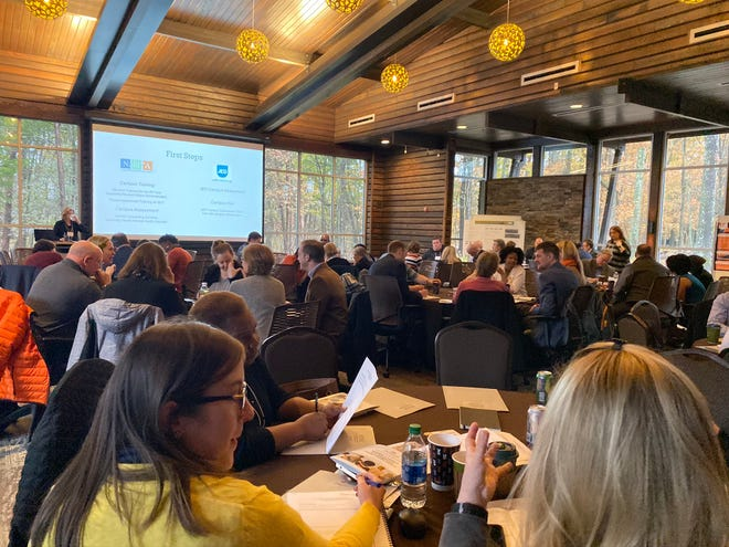 University of Tennessee faculty and staff gathered in Nashville to discuss ways to improve mental health in students and faculty on Nov. 22, 2019.