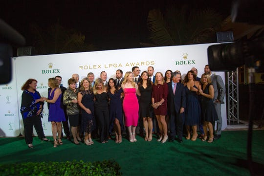 The LPGA Tour celebrated its best during the Rolex LPGA Awards at the Ritz-Carlton Golf Resort in Naples on Thursday, Nov. 21, 2019.  Season-ending awards, including the Rolex Player of the Year and Louise Suggs Rookie of the Year, were handed out following a green carpet leading into the awards ceremony.