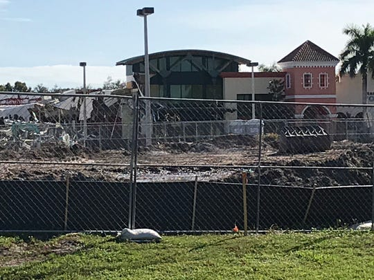 Apartments replacing old Sweetbay and other parts of Magnolia Square shopping center in Naples. Images from early November 2019.