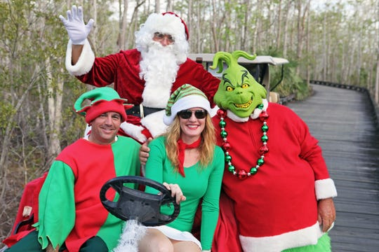 Members take part in the 18-hole couples holiday golf mixer.
