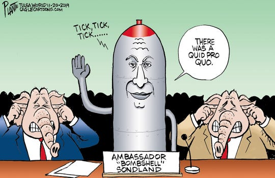 Impeachment bombshell from Ambassador Sondland.