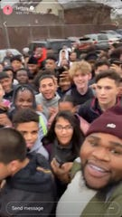 Fatboy broadcast on Instagram Live from the Popeye's parking lot with Lodi High School students on Friday, Nov. 22, 2019