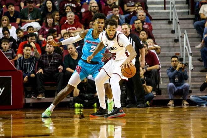 The New Mexico State men's basketball team faces George Mason on Wednesday at 5:30 p.m. MT in the title game of the Cayman Islands Classic.