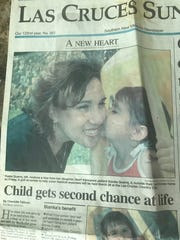 Bianka Guerra was on the cover of the Las Cruces Sun-News 17 years ago after she received her first heart transplant.