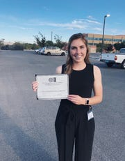 Jessica McDow, New Mexico State University chemical engineering senior and four-year member of the NMSU women's soccer team, won the undergraduate poster presentation at the Rio Grande Symposium on Advanced Materials in Albuquerque, New Mexico.