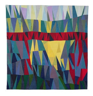 This quilt created by Anne Parker will be exhibited in the artist's upcoming show in the McCray Gallery of Contemporary Art at Western New Mexico University.
