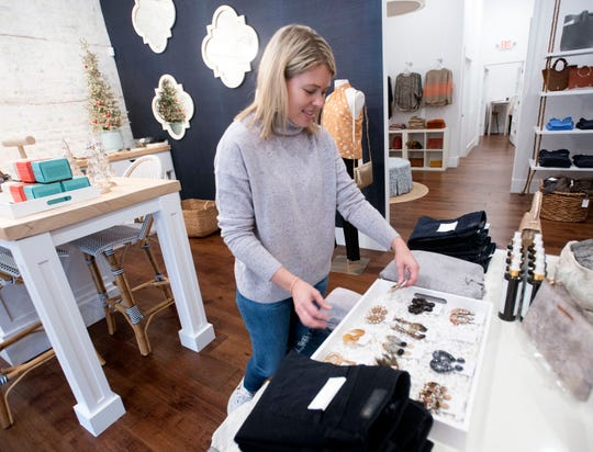 Laura Belsinger recently relocated her Bluetique shop to Palafox Place in downtown Pensacola.