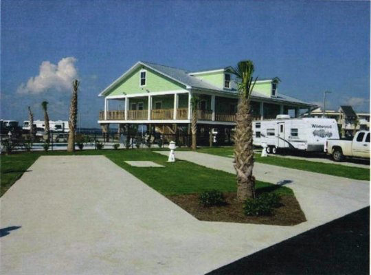 A conceptual picture shows what the clubhouse at the proposed Blackwater Bay RV Resort & Marina could look like.