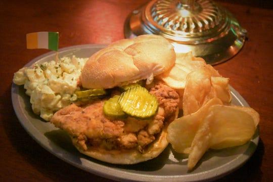The McGuire's spicy chicken sandwich.